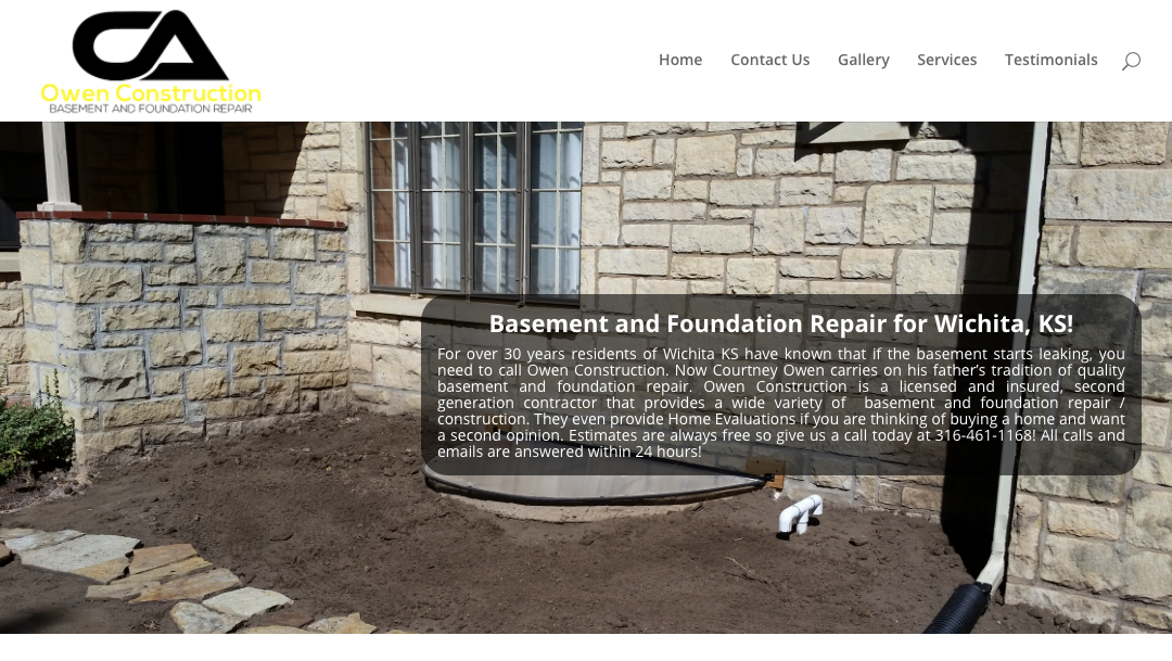 Owen Construction Website