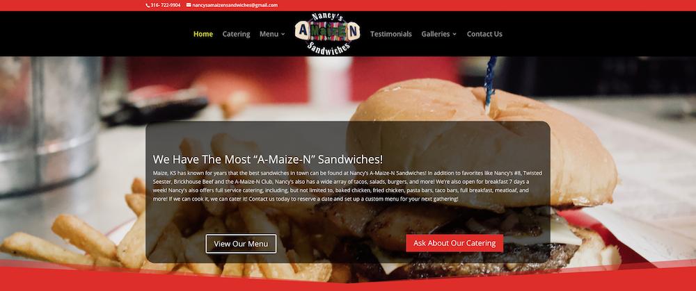 Nancy's A-Maize-N Sandwiches Website