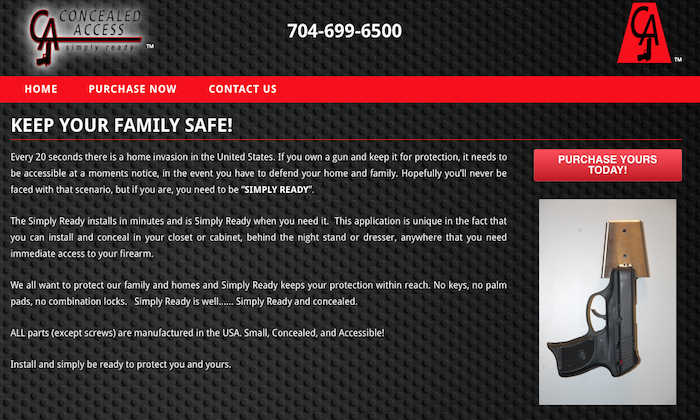 Concealed Access Website