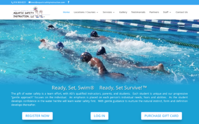 Aquatic Safety Instruction website redesign